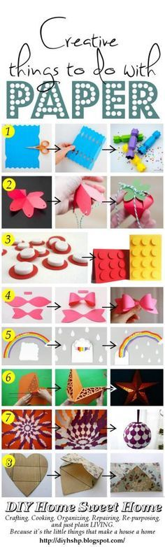 diy home sweet home: Creative things to make from paper