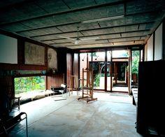 Pedro Pablo Vaquer, Aulets Architecture, José Hevia · Painter's Workshop Low Budget House, Painting Studio, Contemporary Architecture, Brick, Pergola, Workshop, Outdoor Structures, Projects, Workspaces