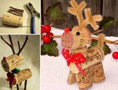 Wine Cork Reindeer Tutorial And Video Instructions   The WHOot