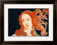 Details of Boticelli's Birth of Venus, c.1984 Print by Andy Warhol