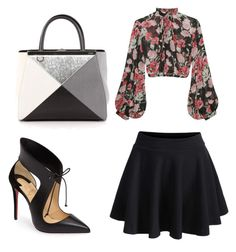 """""""Untitled #4"""" by c-yianaki on Polyvore featuring WithChic, Jill Stuart, Christian Louboutin and Fendi"""