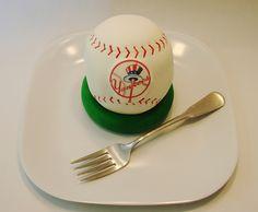 Baseball Cakelet by cupcakeenvy, via Flickr