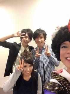 岡本信彦さん、鈴村健一さん、ジョイまっくすポコさん。 花咲くまにまにイベント、より。