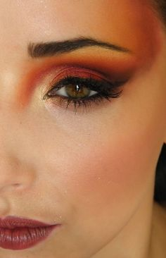 eyes eyes eyes eyes Fire Proof4 yellow orange red black eye shadow