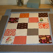 Easy doll quilt to make.... Doll Quilt Sew-Along ~ Part 1