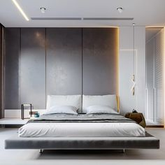 Bedroom paint colors and design tips Master Bedroom Interior, Modern Master Bedroom, Modern Bedroom Design, Minimalist Bedroom, Home Bedroom, Interior Design Living Room, Bedroom Decor, Interior Design Dubai, Luxury Interior