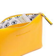 Yellow Leather Clutch // Mona de Castellarnau