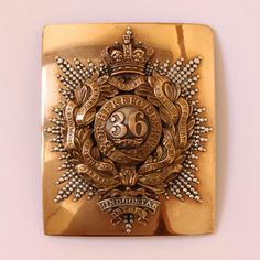 36th Herefordshire Regiment of Foot Officers Shoulder Belt Plate ...