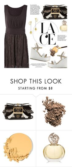 """""""Lace Dress"""" by beebeely-look ❤ liked on Polyvore featuring Burberry, Dolce&Gabbana, Maybelline, Sisley, Tom Ford, WorkWear, sandals, sammydress and lacedress"""
