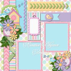 Scrapbooking TammyTags -- TT - Designer - Creative Elegance Designs, TT- Item - Quick Page, TT - Theme - Spring or Easter School Scrapbook Layouts, Scrapbook Layout Sketches, Scrapbooking Layouts, Digital Scrapbooking, Baby Girl Scrapbook, Baby Scrapbook Pages, Scrapbook Cards, Scrapbook Embellishments, Photo Craft