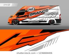 Graphic abstract stripe racing background kit designs for wrap vehicle, race car, branding car. Car Stickers, Car Decals, Car Wrap Design, Van Racking, Car Lettering, Transit Custom, Fiat Ducato, Van Car, Vw Crafter