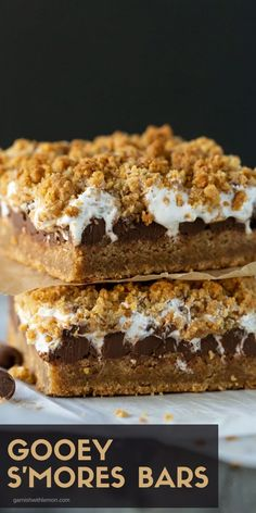 Enjoying s'mores year-round just got a little bit easier with this easy Gooey Baked S'mores Bars Recipe.