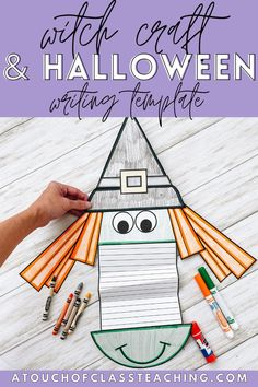 This witch craft is great to use for a variety of Halloween writing prompts. You can even use the Halloween craftivity to accompany favorite Halloween read alouds like Room on the Broom!