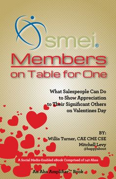 """SMEI (Sales & Marketing Executives International) sponsored a survey asking the question, """"What should salespeople do to show their appreciation for their significant others on or around Valentine's Day?"""" This social media-enabled AhaBook contains the answers we received. Check them out, share them to your friends and followers, and consider doing one or more of the suggestions for your own significant other."""