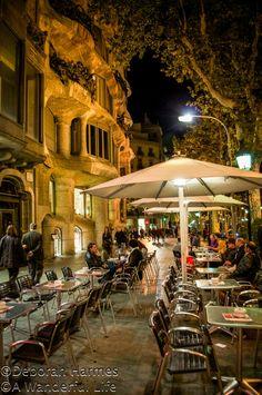 sidewalk dining at night, Montmartre, Paris...                                                                                                                                                                                 More