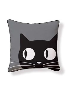 Big Eyes Cat Pillow.