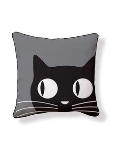 Katze mit großen Augen auf Kissen Schöön! BIG EYES CAT PILLOW