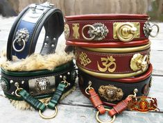 Hand Crafted Leather Dog Collars