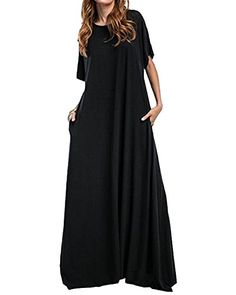 2d8069c615017 Kidsform Femme Robes de Soiree Cocktail Longue Dress elegante Manche Longues  Y-noir 40