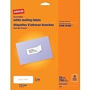 Staples Laser Inkjet Address Labels 1 X 2 5 8 White 30 Labels Sheet 25 Sheets Box 18054 Siwj100 At Staples Return Address Labels Template Address Label Template Sheet Labels