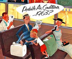 1955 ... future portable air conditioner predicted by 1963!