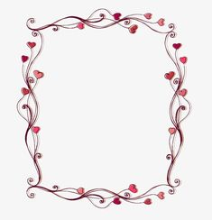 Set of Heart frame vector material 02 - Vector Frames & Borders free… 3d Templates, Border Templates, Frame Template, Templates Printable Free, Printables, Hand Embroidery Patterns Flowers, Embroidery Hearts, Borders For Paper, Borders And Frames