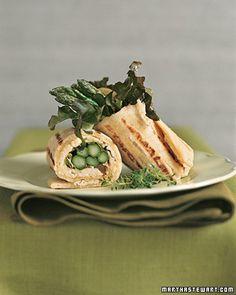 Grilled Asparagus Wrap (Martha Stewart)
