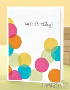 Love the circles on this card!