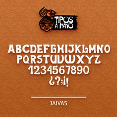 Tipografía Jaivas, basada en el grupo musical chileno Los Jaivas.