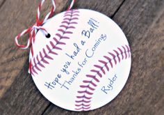 10-Baseball Birthday Party Tags  Hope You Had by MailmansDaughter