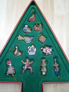 Jim Shore Twelve Days of Christmas Ornaments - Set of 12 (Retired ...