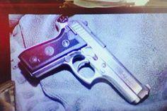 9mm gun that the accused has used to shoot his girlfriend Reeva Steenkamp.