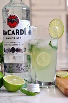 Cooking with Manuela: Mojito Cocktail with Bacardi Rum and Limoncello