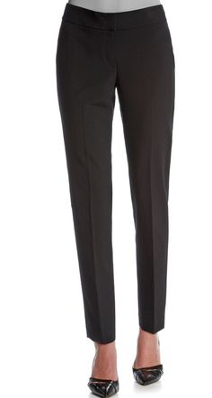 A pair of black pants are a closet staple for your work wardrobe.