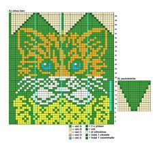 A) Oikean käden kaavio Crochet Gloves, Knit Mittens, Mitten Gloves, Knitting Socks, Knitting Charts, Knitting Patterns, Fair Isle Knitting, Cat Crafts, Crochet Accessories