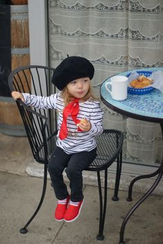 Ooooh Lala 3 This is Lala at The Paris Bakery in Monterey CAshe thought she was in France = ]