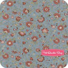 La Belle Fleur Woad Blue Florence Yardage SKU# 13633-14