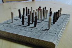 """Reproduction I made of an ancient Celtic board game - a """"tafl"""" game called """"Fitchneal"""" (among other things)."""