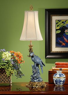 BLUE PARROT LAMP (RIGHT)