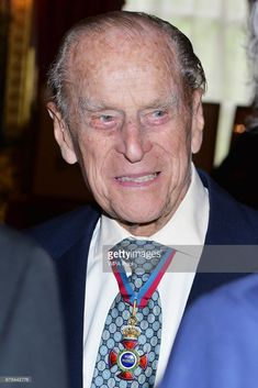 Prince Philip, Duke of Edinburgh speaks to guests after attending the Order of Merit service at Chapel Royal at St James's Palace on May 4, 2017 in London, England. Buckingham Palace today announced the Duke of Edinburgh is to retire from Royal duties and will no longer carry out public engagements from the autumn of 2017.