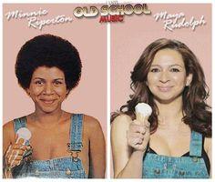 Maya Rudolph, actress and mother, singer, Minnie Riperton (November 1947 – July Black Girls Rock, Black Love, Beautiful Black Women, Beautiful People, Beautiful Ladies, Black Actors, Black Celebrities, Black Actresses, Minnie Riperton