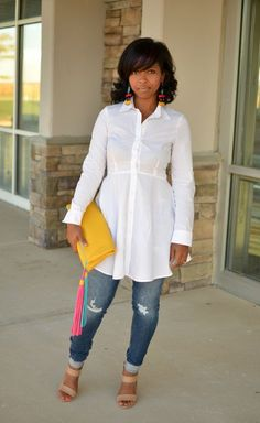 Ways to wear a white button down top