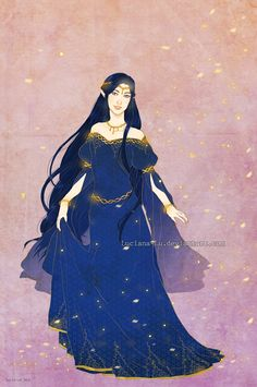 Лутиэн  Commission: Luthien Tinuviel by Luciana-Lu on DeviantArt