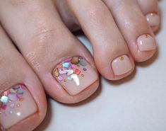 Cute Pedicure Designs, Classy Nail Designs, Toe Nail Designs, Glitter Gel Nails, Cute Acrylic Nails, Pedicure Nail Art, Toe Nail Art, French Toe Nails, Pretty Toe Nails