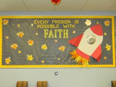 Large religious bulletin board