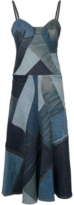 Junya Watanabe Comme Des Garçons patchwork denim dress