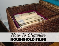 How To Organize Household Files