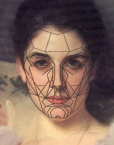 John Singer Sargent, Lady Agnew (with mask mapping the golden ratio)