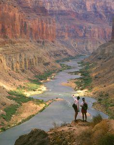River Guides overlook the Colorado River at Nankoweap, Grand Canyon National Park, Arizona   by Kerrick James Photography