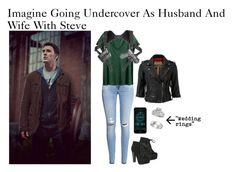 """Imagine Going Undercover As Husband And Wife With Steve"" by alyssaclair-winchester ❤ liked on Polyvore featuring H&M, Superdry, Breckelle's, Allurez, imagine, Avengers, marvel, CaptainAmerica and steverogers"